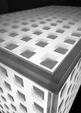 Abstact metal cube background. Abstact metal cube grey background. Selective focus Stock Photo