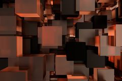 Abstact modern background with cubes. 3d rendering.  vector illustration