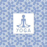 Abstact Person Blue Yoga Studio Design Card Stock Photography