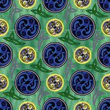 Abstact seamless background for printing on clothing and textile. Abstact seamless background is computer graphics and can be used in the design of textiles, in stock illustration