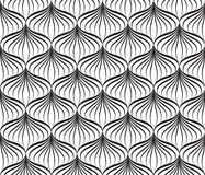 Abstact seamless black-and-white geometric pattern Floral. Abstact seamless pattern Floral oriental geometric line texture Stylish abstract ornamental background Royalty Free Illustration