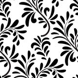 Abstact seamless floral geometric pattern Floral swirl le. Aves tiled texture Flourish background Stock Illustration