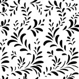 Abstact  seamless floral geometric pattern Floral swirl le. Abstact  seamless pattern. Floral line swirl geometric texture. Stylish abstract ornamental Royalty Free Stock Photography