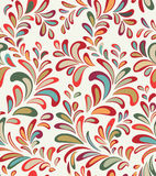 Abstact  seamless floral geometric pattern Floral swirl le. Abstact  seamless pattern. Floral line swirl geometric texture. Stylish abstract ornamental Royalty Free Stock Photos