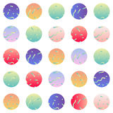 Abstact seamless pattern with colorful circles. Colorful circles on white background. Seamless pattern, vector illustrations stock illustration