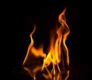 Abstact tapetbrand flammar på svart bakgrund Royaltyfri Foto