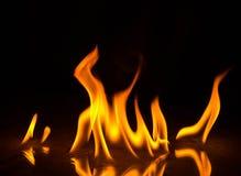 Abstact tapetbrand flammar på svart bakgrund Fotografering för Bildbyråer