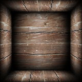 Abstact view of wooden box interior Stock Photo