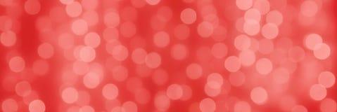 Abstact wakacyjny koralowy tło z bokeh światła piłkami zdjęcie stock