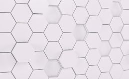 Abstact white futuristic wall. 3d render. Ing vector illustration