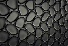 Abstact zwarte futuristische muur 3d geef terug royalty-vrije illustratie