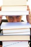 Abstand in den Büchern stockfoto