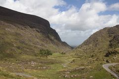Abstand von Dunloe, Irland. Stockbild