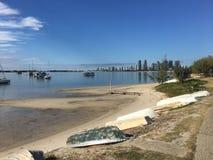 Abstands-Gold- Coastansicht vom Strand lizenzfreie stockfotografie