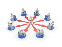 Abstandstraining oder Onlinetrainingskonzept Lizenzfreies Stockfoto