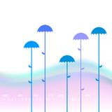 Abstaract background with umbrellas. Abstaract background with a space for a text vector illustration
