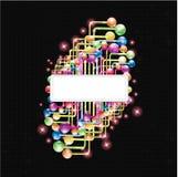 Предпосылка формы цвета Abstarct Стоковая Фотография RF