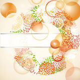 Abstarct background with floral circle. And place for your text vector illustration