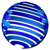 Abstarct background - sphere of tape. 3D rendering. Stock Images
