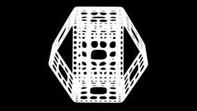 Abstarct bakgrund - kvarteret med hål vänder omkring framförande 3d vektor illustrationer