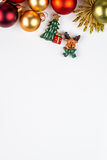 Abstarct Christmas symbols on white background Stock Photo
