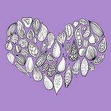 Abstarct doodle heart. Vector illustration royalty free illustration