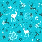 ABSTARCT ELEMENTS OF HOLLY HOLIDAY. MERRY CHRISTMAS SEAMLESS PATTERN VECTOR. WINTER HOLYDAY. MERRY CHRISTMAS SEAMLESS PATTERN. VECTOR ILLUSTRATION. PRESENT stock illustration