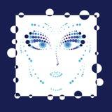 Abstarct font face Image stock
