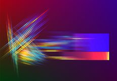 Tech stripe light lines abstarct vector background. Abstarct futuristic background with light speed lines for technology backdrop associated with space speed royalty free illustration