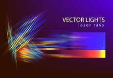Tech stripe light lines abstarct vector background. Abstarct futuristic background with light speed lines for technology backdrop associated with space speed vector illustration