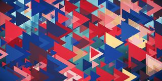 Abstarct geometric background. With colorful detonated triangles. 3d rendering Stock Illustration