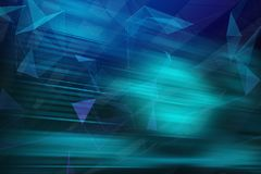 Abstarct geometric background. With triangles and blured lines. 3d rendering Stock Illustration