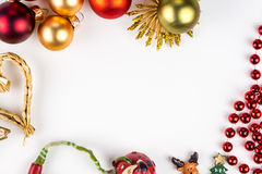 Abstarct julsymboler på vit bakgrund Fotografering för Bildbyråer