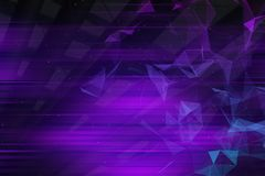 Abstarct purple geometric background. With triangles and blured lines. 3d rendering Royalty Free Stock Photos