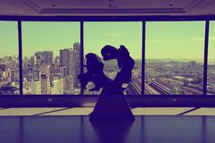 Abstarct sculpture on the top floor of Sheraton hotel Stock Photo