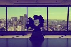 Abstarct skulptur på det bästa golvet av det Sheraton hotellet Arkivfoto
