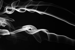 Abstarct svartvita virvlar Arkivfoton