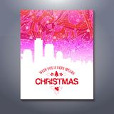 Abstarct urban scene Xmas greetings template Stock Photos