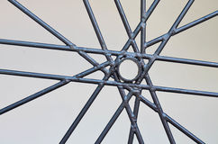 Abstarct wall decoration from rebar Stock Photography