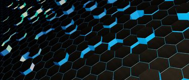 Abstarct wallpaper hexagonal Royalty Free Stock Photos