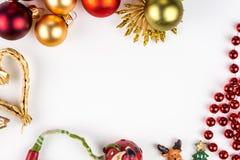 Abstarct-Weihnachtssymbole auf weißem Hintergrund Stockbild