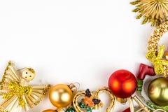 Abstarct-Weihnachtssymbole auf weißem Hintergrund Stockfoto