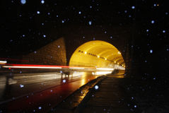 Abstart Tunnel. An abstract view of a road tunnel stock photos
