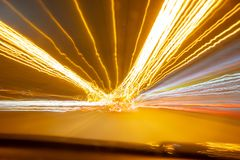 Light trails motion effect. Absteact lights shape motion effect nice background royalty free stock photos