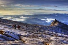 Absteigende Montierung Kinabalu Stockfotografie