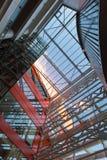abstellgleis Metallplatten Doppelglasfenster Stockfoto