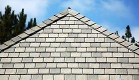 Abstellgleis- und Dachzeile Stockfotos