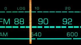 Abstimmen in 89 MHZ FM Stockfoto