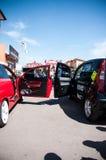 Abstimmendes Auto bei EMMA 2013 in Lemberg Stockbilder