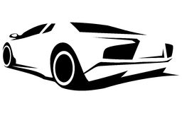 Abstimmendes Auto des Schattenbildes vektor abbildung